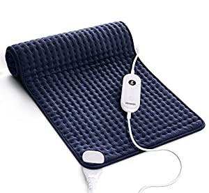 【Fastly Recover Strained Muscle】Use the Homech therapeutic heating pad, this large electric heat wrap helps reduce inflammation and painful cramps. Just place it over your sore legs, wrap it around your stiff neck or throw it over your shoulder or ba...