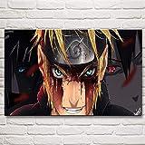 HGlSG DIY Pintar por números Cuadros Modernos Dormitorio Arte de la Pared Naruto Anime Lienzo de Pintura por números con Pincel y Pintura acrílica Kits Theme Digital Home Wall Artwo50x70cm(Sin Marco)