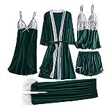 Luckycat 5pcs Sexy Conjuntos Cinco Vestido Mujer Ertico Lace Talla Grande Lenceria Babydoll Interior...