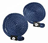 Taylor Made Products 11317 Fender Loc Line, 3/8 inch x 72 inch, Navy, 2 Pack