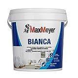 MaxMeyer Pittura per interni Bianca Lavabile per camere e soggiorni BIANCO 4 L
