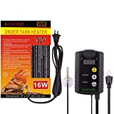 Aiicioo Under Tank Heater Thermostat - Reptile Heating Pad with Temperature Control Reptile Heat Mat...