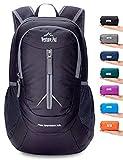 Venture Pal 25L - Durable Packable Lightweight Travel Hiking Backpack Daypack Small Bag for Men Women(Black)