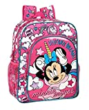 safta 612012640 Mochila Escolar Junior de Minnie Mouse, Rosa