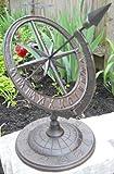 Reloj de sol Armillary de hierro GSM con flecha