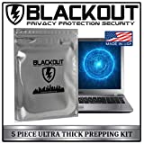 Faraday Cage EMP ESD Bags Premium Ultra Thick 8.0 mil 5pc Kit Laptops Tablets Smartphones Hard Drives