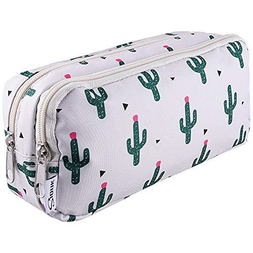 SIQUK Astuccio per penne a doppia capacit Astuccio per cerniere Cactus Astuccio per penne Cartone...