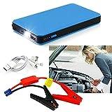 12V 20000mAh Car Jump Starter Multi-Function Battery Charger Mini Power Bank Booster (Blue)