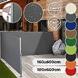 Store Latéral Rétractable - Taille 160x600 ou 180x600 cm et Couleur au...