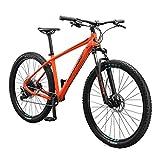 Mongoose Tyax Comp Adult Mountain Bike, 29-Inch Wheels, Tectonic T2 Aluminum Frame, Rigid Hardtail, Hydraulic Disc Brakes, Mens Medium Frame, Orange