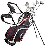 Wilson WGG157550 Ensemble Complet pour Débutant, 10 Clubs de Golf avec Sac...