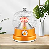 FASSTUREF Portable Table Top Heater, Electric Outdoor Patio Heater, Super Quiet & 360° Instant Warm, Small Space Heaters, Mini Infrared Heater