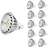 Xpeoo® Pack de 10 unités 6W LED MR16 GU5.3 lumière du jour Ampoule...
