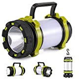 lasesasies Camping Lantern,USB Rechargeable LED Camping Lumière Dimmable IP65 Étanche...