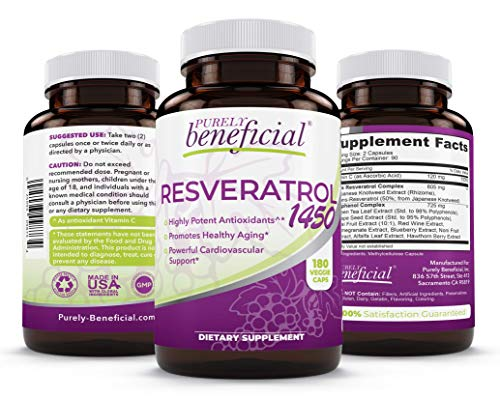 RESVERATROL1450-90day Supply, 1450mg per Serving of Potent...