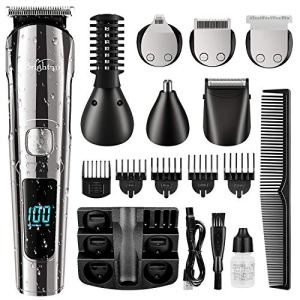 Brightup Beard Trimmer, Cordless Hair Clippers Hair Trimmer for Men, Waterproof Body Mustache Nose...