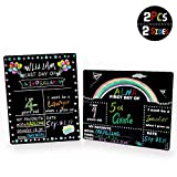 BFS Surprise First and Last Day of School Chalkboard Sign Cardboard Back to School Sign for Kids- Back to School Sign 1st Day School Stats Photo Prop