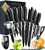 Home Hero 17 Pieces Kitchen Knives Set, 13 Stainless Steel Knives + Acrylic...