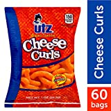Utz Cheese Curls, Baked Cheddar – 1 oz. Bags (60 Count) – Made with Real Cheese, Crunchy Individual Snacks to Go, Cholesterol Free, Trans-Fat Free, Gluten Free Snacks