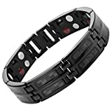 Willis Judd Black Carbon Fiber Titanium Magnetic Bracelet Double Strength Adjusting Tool and Gift Box Included
