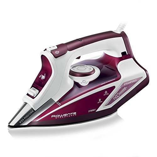 Rowenta DW9230 Steam Force Ferro da Stiro a Vapore con Piastra Microsteam 400, 2750 W, Rosso