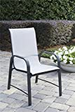 Cosco Outdoor Dining Chairs, 6-Pack, Gray Frame, Light Gray Sling