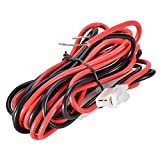eoocvt 9.85ft T-Shape Car Mobile Radio DC Power Cable for Kenwood TM-741 TM-V7 TM-G707 TM-D700 YAESU FT-1807 FT-8800 3metres Long