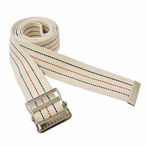 Premium Patient Transfer/Walking Gait Belt with Metal Buckle - Beige 60'L x 2'