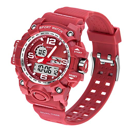 Women's Digital Sports Watch, Dual-Display Waterproof Wrist Watch with Alarm and Stopwatch