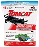Tomcat Mouse Killer Child and Dog Resistant, Refillable Station, 1 station with 16 baits