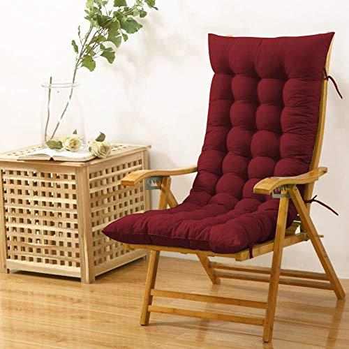 Cloth Fusion Cloudy Throne Microfiber Long Rocking Chair Cushion Pad - (51x19 Inches/Maroon)