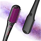 TYMO iONIC Hair Straightener Brush - Enhanced Ionic Straightening Brush with 16 Heat Levels for Frizz-Free Silky Hair, Anti-Scald & Auto-Off Safe & Easy to Use, Straightening Comb for Salon at Home