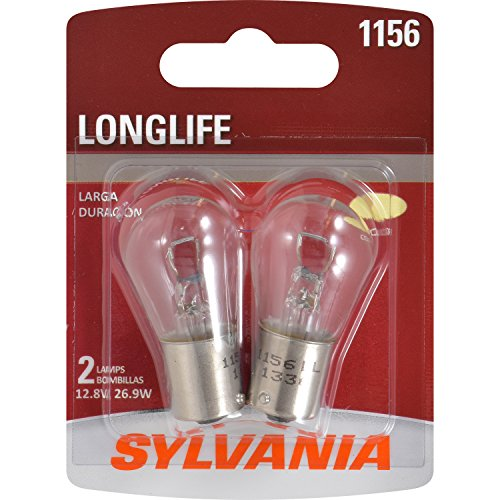 SYLVANIA - 1156 Long Life Miniature - Bulb, Ideal Option for Stop and Tail Lights. (Contains 2 Bulbs)