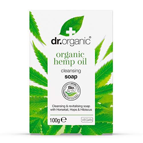 Dr. Organic Jabon En Pastilla Aceite Cañamo Organico 100Gr. 1 Unidad 100 g
