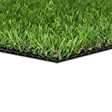 GOLDEN MOON Artificial Grass for Dogs 0.8' 16in x 40in Pet Grass Puppy Potty Training Grass Pee Pad Fake Grass Mat for Garden 5-Tone Realistic & Soft Series