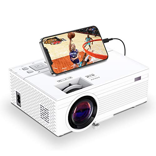 Mini Projector, Towond 1080P Full HD Portable Video Projector with Remote Control, 7500L Home Theater Movie Projector Compatible with TV Stick HDMI VGA USB TF AV for Cinema/Outdoor Movie