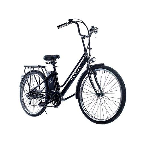 Revoe e-bike, Citybike. Nera, cerchi in lega, 26'', velocit massima 25 km/h, 45 Km di autonomia