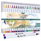 MozArt Supplies Feutres Pinceaux – Boîte de 20 Crayons Aquarelle avec...