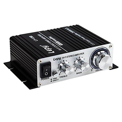 LEPY LP-VS3 25Wx2 Verstärker + HiFi verzögert Schutz + 5A Power Netzteil Eurostecker
