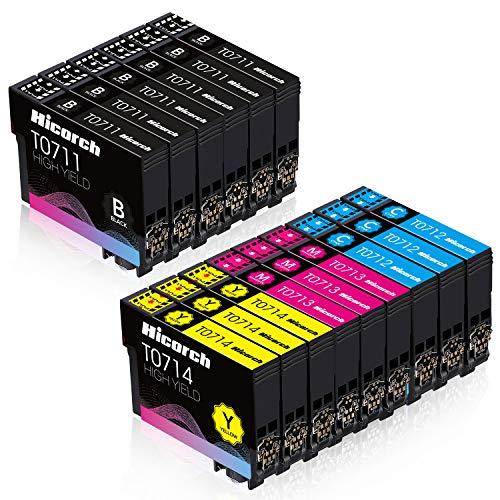 Hicorch Cartuccia T0715 Multipack Compatibile con Cartucce Epson T0711 T0712 T0713 T0714 per Epson...
