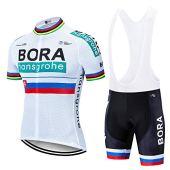 HBICYLEH Estivo Costumi da Ciclismo per Uomini, Completo Ciclismo Uomo Maglia Ciclismo Maniche Corte Squadra Professionale