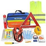 QLOUNI Kit d'urgence Auto 12-en-1 - Kit de sécurité Voiture Euro Assistance...