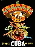 ABLERTRADE Affiche en métal publicitaire de voyage Cuba Cuban Havana Rhum Habana Caraïbes 20,3 x 30,5 cm