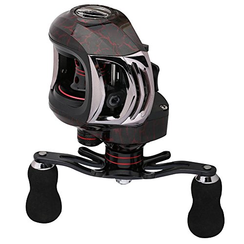 Starnearby STAR Earby Angel spinnrollen 13+ 1BB 6.3: 1magnetico Tuned Brake Low Profile baitca Sting Mulinello, rot, 140.00 * 118.00 * 73.00