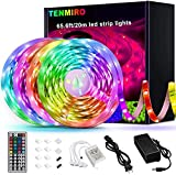 Tenmiro 65.6ft Led Strip Lights, Ultra Long RGB 5050 Color Changing LED Light Strips Kit with 44...