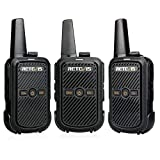 Retevis RT15 Small Walkie Talkies for Adults Kids Rechargeable FRS 16 Channel Lock Handsfree Mini 2 Way Radio(3 Pack)