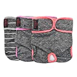 kyeese Sports Reusable Female Dog Diapers Breathable 3 Pack Doggie Puppy Wraps Waist 8''-11'' for Mini Dogs