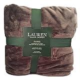 Lauren by Ralph Lauren R&L Classic Micromink (Microfiber) Blanket/Throw - Charcoal Gray (Full/Queen)
