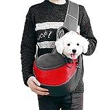Borsa da Viaggio per Cani, Tracolla per Cane, Trasportino da Passeggio Ideale per Cani di Piccola Taglia o Gatti per Viaggi all'aperto (Rosso)