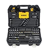 DEWALT Mechanics Tools Kit and Socket Set, 142-Piece, 1/4 & 3/8' Drive, MM/SAE (DWMT73802)